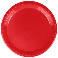 Creative Converting 28103111B 7 inch Classic Red Plastic Plate - 600/Case