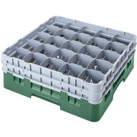 Cambro 25S418119 Camrack 4 1/2 inch High Sherwood Green 25 Compartment Glass Rack