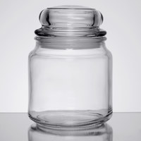 Anchor Hocking 95696 Country Comfort 16 oz. Glass Jar with Lid - 12/Case