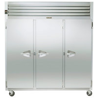Traulsen G31010 77 inch G Series Three Section Solid Door Reach-In Freezer with Left / Right / Right Hinged Doors - 69.1 cu. ft.