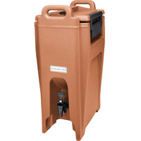 Cambro UC500157 Coffee Beige Ultra Camtainer 5.25 Gallon Insulated Beverage Dispenser