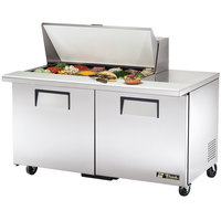 True TSSU-60-18M-B 60 inch Mega Top Two Door Sandwich / Salad Prep Refrigerator