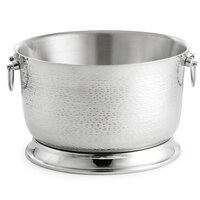 Tablecraft BTB1610 Round Double Wall Stainless Steel Beverage Tub with Base - 16 inch x 10 inch