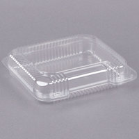Dart C51UTS StayLock 8 1/4 inch x 7 3/4 inch x 2 inch Clear Hinged Plastic Medium Shallow Container - 250/Case