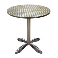 American Tables & Seating AL30-Bar 27 1/2 inch Round Bar Height Aluminum Table