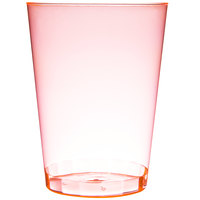 Fineline Savvi Serve 410-ORG 10 oz. Tall Neon Orange Hard Plastic Tumbler - 20/Pack
