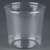 Fabri-Kal Alur RD24 24 oz. Recycled Customizable Clear PET Plastic Round Deli Container 500 / Case