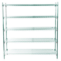 Metro 5A577K3 Stationary Super Erecta Adjustable 2 Series Metroseal 3 Wire Shelving Unit - 24 inch x 72 inch x 74 inch