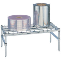 Metro HP35S 48 inch x 18 inch x 14 1/2 inch Heavy Duty Stainless Steel Dunnage Rack with Wire Mat - 1300 lb. Capacity