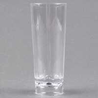 Fineline Tiny Temptations 6413-CL 2 oz. Tiny Barware Clear Cordial Plastic Shot Glass - 200/Case
