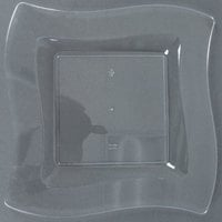 Fineline Wavetrends 109-CL 9 1/2 inch Clear Plastic Square Plate - 120/Case