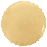 Southern Champion 16 inch Gold Laminated Corrugated Cake Circle - 10/Pack