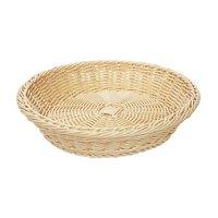 GET WB-1502-N 11 1/2 inch x 2 3/4 inch Designer Polyweave Natural Round Basket - 12 / Case