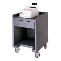 Cambro ES28110 Black Cash Register / Equipment Stand No Tray Rail