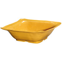 GET ML-132-TY New Yorker 15 inch Square Bowl - Tropical Yellow