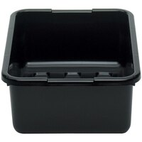 Cambro 21157CBP110 Cambox 21 inch x 15 inch x 7 inch Black Polyethylene Plastic Bus Box
