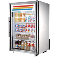 True GDM-7-S-LD Stainless Steel Countertop Display Refrigerator with Swing Door - 7 cu. ft.