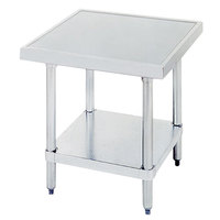 Advance Tabco AG-MT-300 30 inchx 30 inch Stainless Steel Mixer Table with Galvanized Undershelf