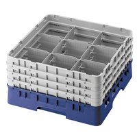 Cambro 9S318186 Navy Blue Camrack 9 Compartment 3 5/8 inch Glass Rack