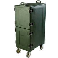 Carlisle PC600N08 25 inch x 17 inch x 50 inch Forest Green Insulated Food Pan Carrier