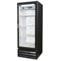 Beverage Air LV12-1-B-LED Black LumaVue 24 inch Refrigerated Glass Door Merchandiser with LED Lighting - 12 Cu. Ft.