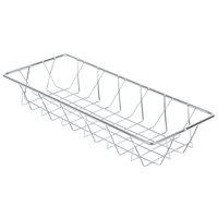 14 inch x 6 inch Rectangular Chrome Pastry Basket