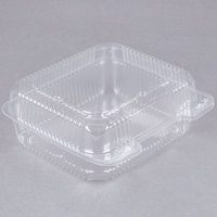 Durable Packaging PXT-895 Tall 8 inch x 8 inch One-Compartment Clear Hinged Plastic Take Out Container - 125/Pack