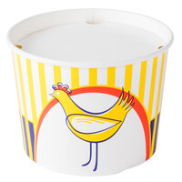 Choice 3.5 lb. Chicken Bucket with Lid - 210 / Case