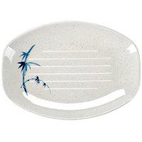 Blue Bamboo 9 inch x 6 1/2 inch Oval Melamine Teriyaki Tray - 12/Case