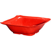 GET ML-131-R New Yorker 13 inch Square Bowl - Red