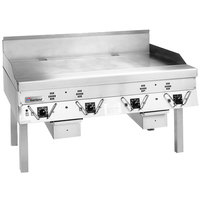 Garland CG-48R-01 48 inch Master Series Natural Gas Production Griddle with Thermostatic Controls - 120,000 BTU