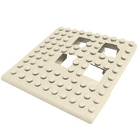 Cactus Mat 2554-AC Dri-Dek 2 inch x 2 inch Almond Vinyl Interlocking Drainage Floor Tile Corner Piece - 9/16 inch Thick