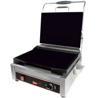 Cecilware SG1LF Single Plus Panini Sandwich Grill with Flat Grill Surfaces - 120V