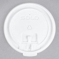 Dart Solo LB3161 12, 16, and 20 oz. White Plastic Tab Lid - 100/Pack