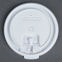 Dart Solo LB3161 12, 16, and 20 oz. White Plastic Tab Lid - 100 / Pack