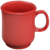 8 oz. Pure Red Bulbous Melamine Mug - 12/Pack