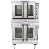 Bakers Pride BCO-G2 Cyclone Series Natural Gas Double Deck Full Size Convection Oven - 120,000 BTU