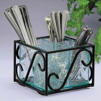 Cal Mil H350-13 Wire and Faux Glass Flatware Holder