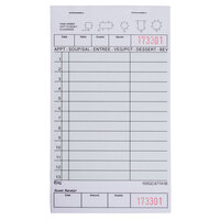 Choice 1 Part Green and White Guest Check with Beverage Lines and Bottom Guest Receipt - 50 Books / Case