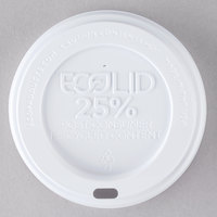Eco-Products 10, 12, 16, and 20 oz. White Recycled Content Hot Paper Cup Lid - 1000/Case