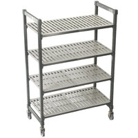 Cambro Camshelving Premium CPMS244875V4480 Mobile Shelving Unit with Standard Casters 24 inch x 48 inch x 75 inch - 4 Shelf