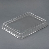 Genpak 95514 Bake 'N Show Clear Dome Lid for 55514 Dual Ovenable Quarter Sheet Cake / Baking Pan - 100 / Case