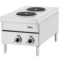 Garland E24-12H 24 inch Two Burner Heavy-Duty Electric Countertop Hot Plate - 240V, 3 Phase, 4.2 kW