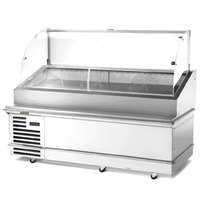 Traulsen TD078HT-1 Stainless Steel 78 inch Deli Case with Casters - Specification Line