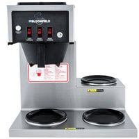 Bloomfield 8571-D3 Koffee King 3 Warmer Right Stepped Pourover Coffee Brewer, 120V; 1800W