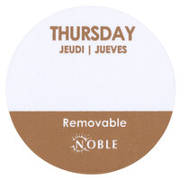 Noble Products Thursday 1 inch Removable Day of the Week Dot Label - 1000 / Roll