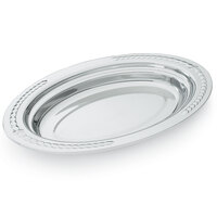 Vollrath 8231420 Miramar 3 Qt. Decorative Stainless Steel Oval Food Pan - 2 inch Deep