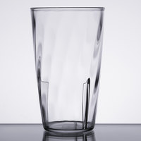 Carlisle 4366307 Swirl 8 oz. Clear Polycarbonate Tumbler   - 36/Case
