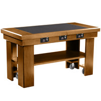 Vollrath 7552283 60 inch Oak Induction Buffet Table with 3 Warmers - 120V