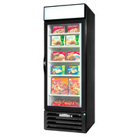 Beverage Air MMF23-1-B-LED Black Marketmax Glass Door Merchandising Freezer with LED Lighting and Swing Door - 23 Cu. Ft.